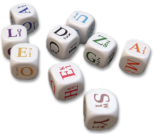 Spare dice for Dicewords
